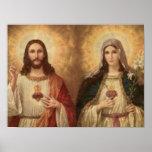 La mayoría del corazón sagrado de Jesús santo y de Posters
