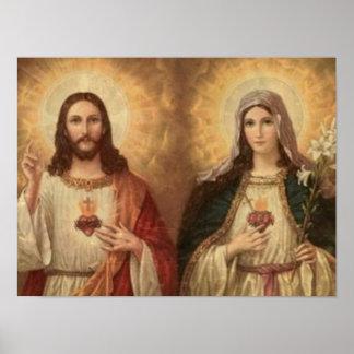 La mayoría del corazón sagrado de Jesús santo y de Póster