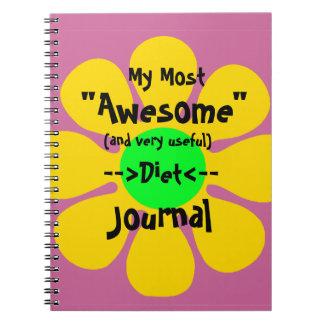 La mayoría del diario impresionante de la dieta cuaderno