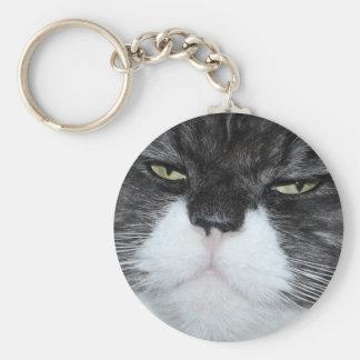 La mayoría del gato hermoso llaveros personalizados