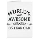 La mayoría del mundo 85 años felicitacion