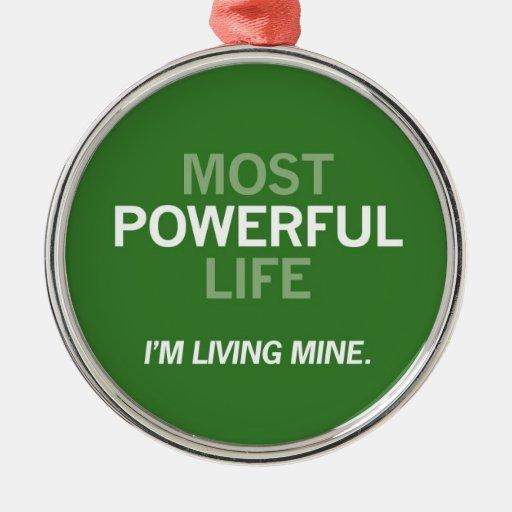 La mayoría del ornamento potente de la vida adorno navideño redondo de metal