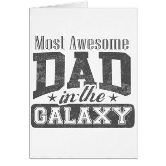 La mayoría del papá impresionante en la galaxia tarjeta