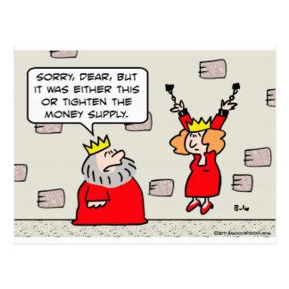 la mazmorra de la reina del rey aprieta la masa tarjeta postal