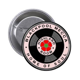 La Meca de Blackpool - casera de alma Chapa Redonda 5 Cm
