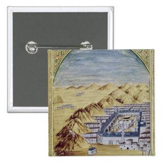 La Meca rodeada por las montañas de Arafa Pin Cuadrado