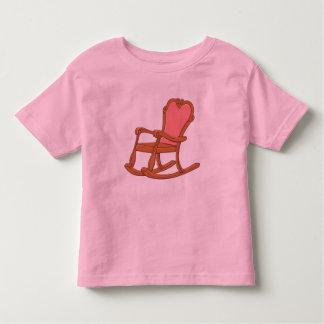 La mecedora de madera antigua de encargo embroma camisetas