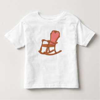 La mecedora de madera antigua de encargo embroma tee shirts