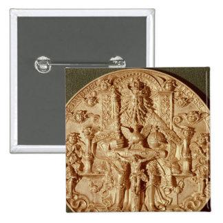La medalla de la trinidad, modificó la versión de  pin cuadrada 5 cm