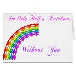 La media derecha del arco iris de la tarjeta del d