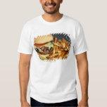 la media hamburguesa doble grande de la libra fríe camisas