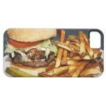 la media hamburguesa doble grande de la libra fríe iPhone 5 carcasa