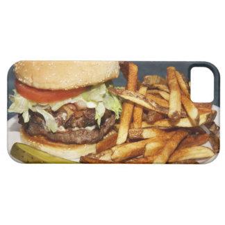 la media hamburguesa doble grande de la libra fríe funda para iPhone SE/5/5s