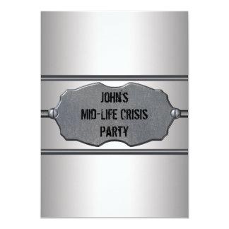"""La mediados de crisis de la vida sirve a la 40.a invitación 5"""" x 7"""""""