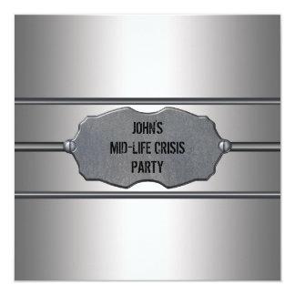 La mediados de crisis de la vida sirve a la 40.a invitación 13,3 cm x 13,3cm