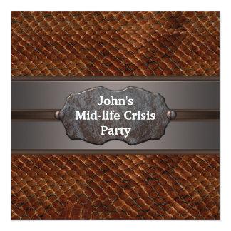 La mediados de crisis divertida de la vida sirve a invitación 13,3 cm x 13,3cm