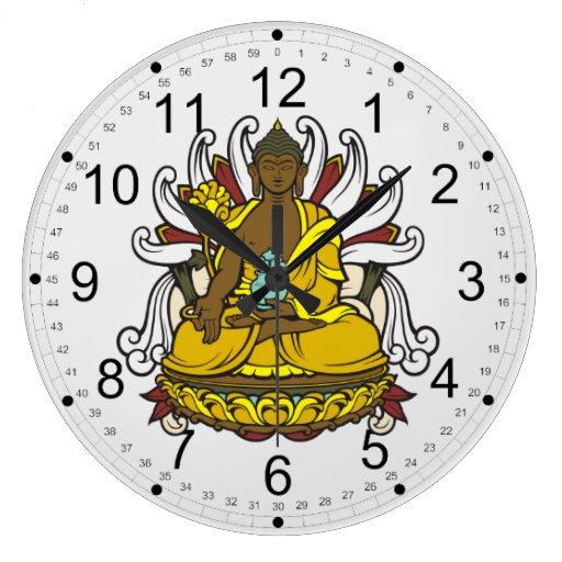 La medicina Buda Reloj De Pared