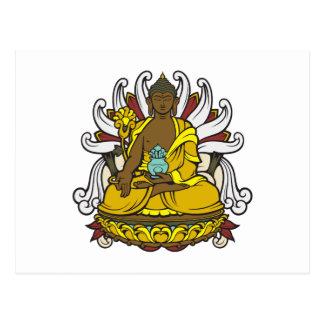La medicina Buda Tarjeta Postal