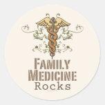 La medicina de familia oscila a los pegatinas etiquetas redondas