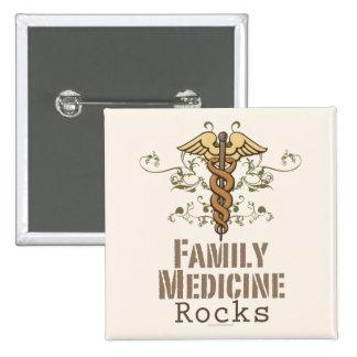La medicina de familia oscila el botón pin