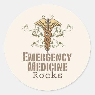 La medicina de la emergencia oscila a los pegatina redonda
