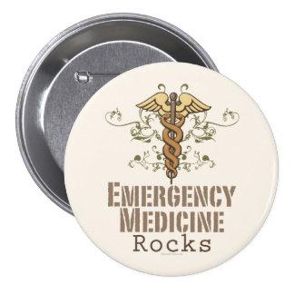 La medicina de la emergencia oscila el botón pin redondo de 3 pulgadas