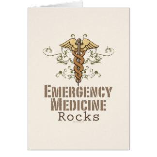 La medicina de la emergencia oscila la tarjeta de