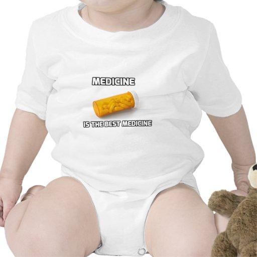 La medicina es la mejor medicina traje de bebé
