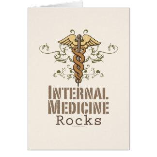 La medicina interna oscila la tarjeta de felicitac