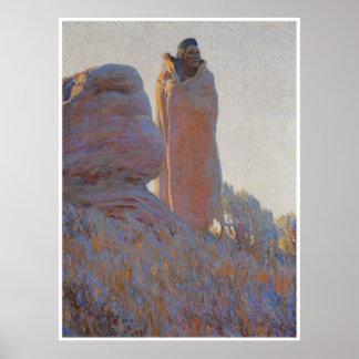 La medicina Robe, 1915, pintura del oeste american Impresiones