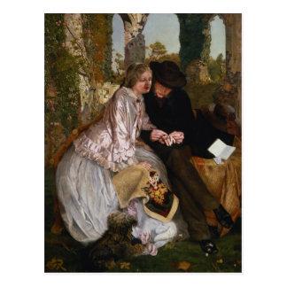 La medida para el anillo de bodas 1855 postales