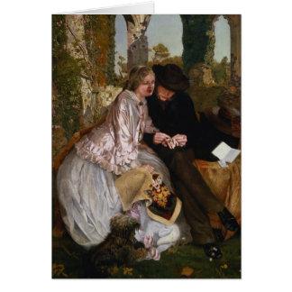 La medida para el anillo de bodas 1855 tarjeton