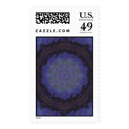 La meditación azul colorida inspiró el SELLO