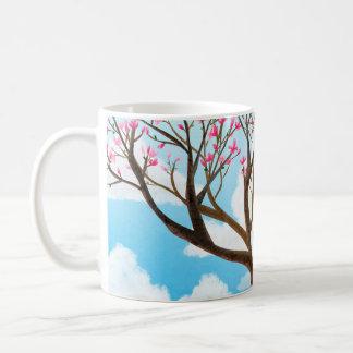 """La meditación de la magnolia """"respira en """" tazas de café"""