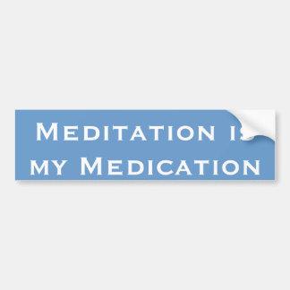 La meditación es mi medicación pegatina para auto