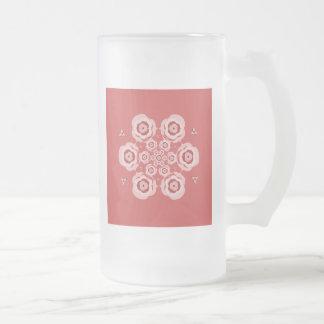 La meditación rosada linda de la flor de Lotus Taza De Cristal