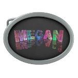 La Megan conocida en 3D se enciende (la fotografía Hebillas De Cinturon Ovales