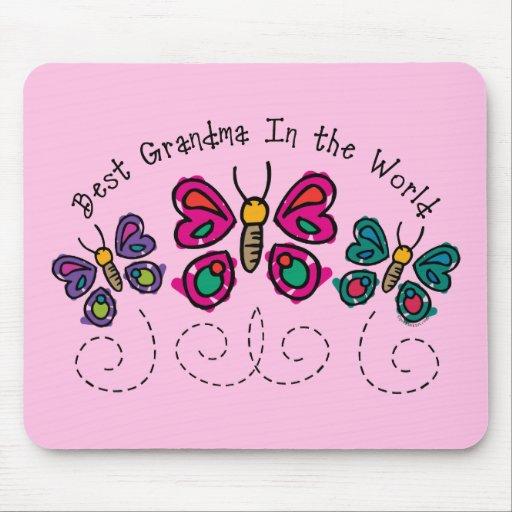 La mejor abuela de la mariposa mousepad