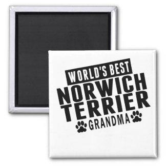 La mejor abuela de Norwich Terrier del mundo Imán Cuadrado
