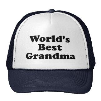 La mejor abuela del mundo gorras de camionero