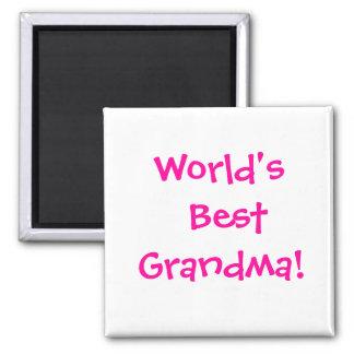 ¡La mejor abuela del mundo! Imán Cuadrado