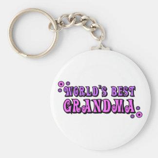 La mejor abuela del mundo llavero redondo tipo pin