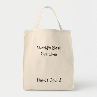 ¡La mejor abuela del mundo, manos abajo! Bolsa Tela Para La Compra