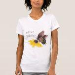 La mejor abuela del mundo - mariposa, flores camiseta