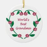 La mejor abuela del mundo ormanent ornamentos de reyes