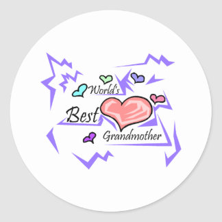 La mejor abuela del mundo pegatina redonda