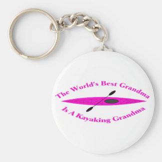 La mejor abuela del mundo (rosa) llaveros
