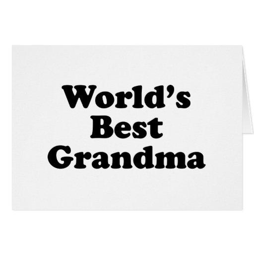 La mejor abuela del mundo tarjeta