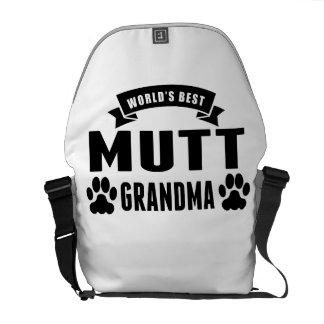 La mejor abuela del Mutt del mundo Bolsas De Mensajeria
