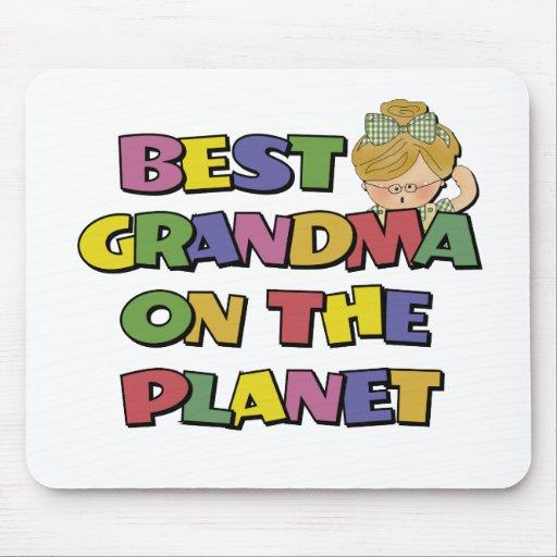 La mejor abuela en el planeta alfombrilla de raton